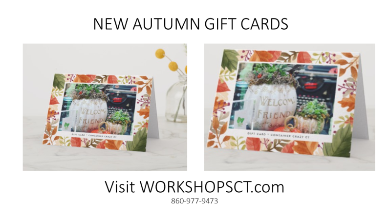 NEW AUTUMN GIFT CARDS!